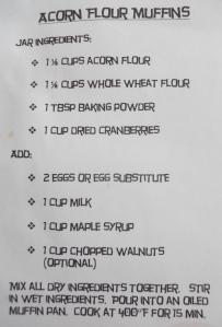 Acorn Muffin Mix Recipe
